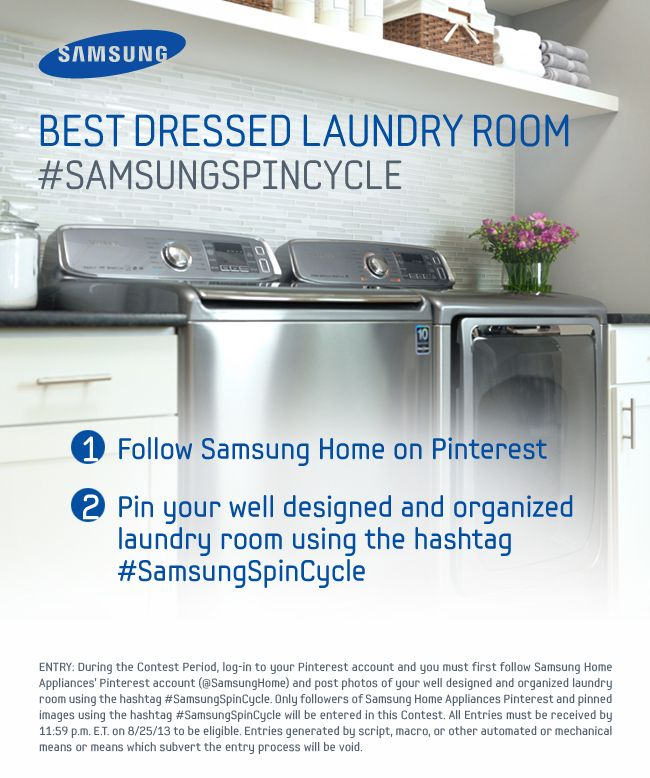 samsung contest Best Dressed Laundry Room: Judging Together With Samsung