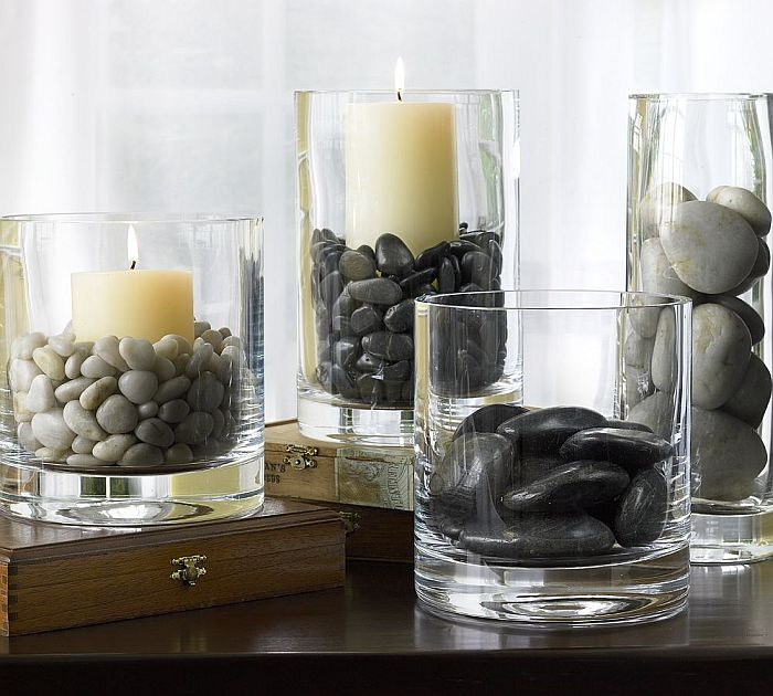 zen pebbles vase decor