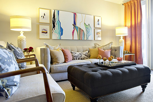 A living room featuring a range of colors