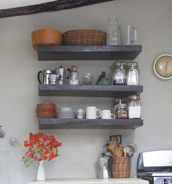 View In Gallery Accessories On Kitchen Shelving