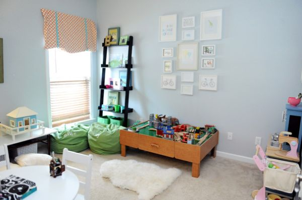Always add enough soft surfaces to the playroom to mak it plush