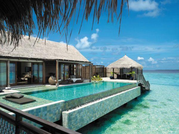 Amazing pool at the Shangri-La's Villingili Resort & Spa in Maldives