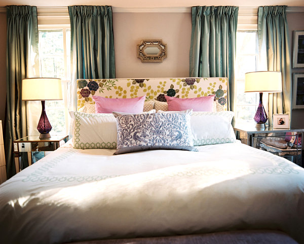 Ample pillows in a decadent bedroom