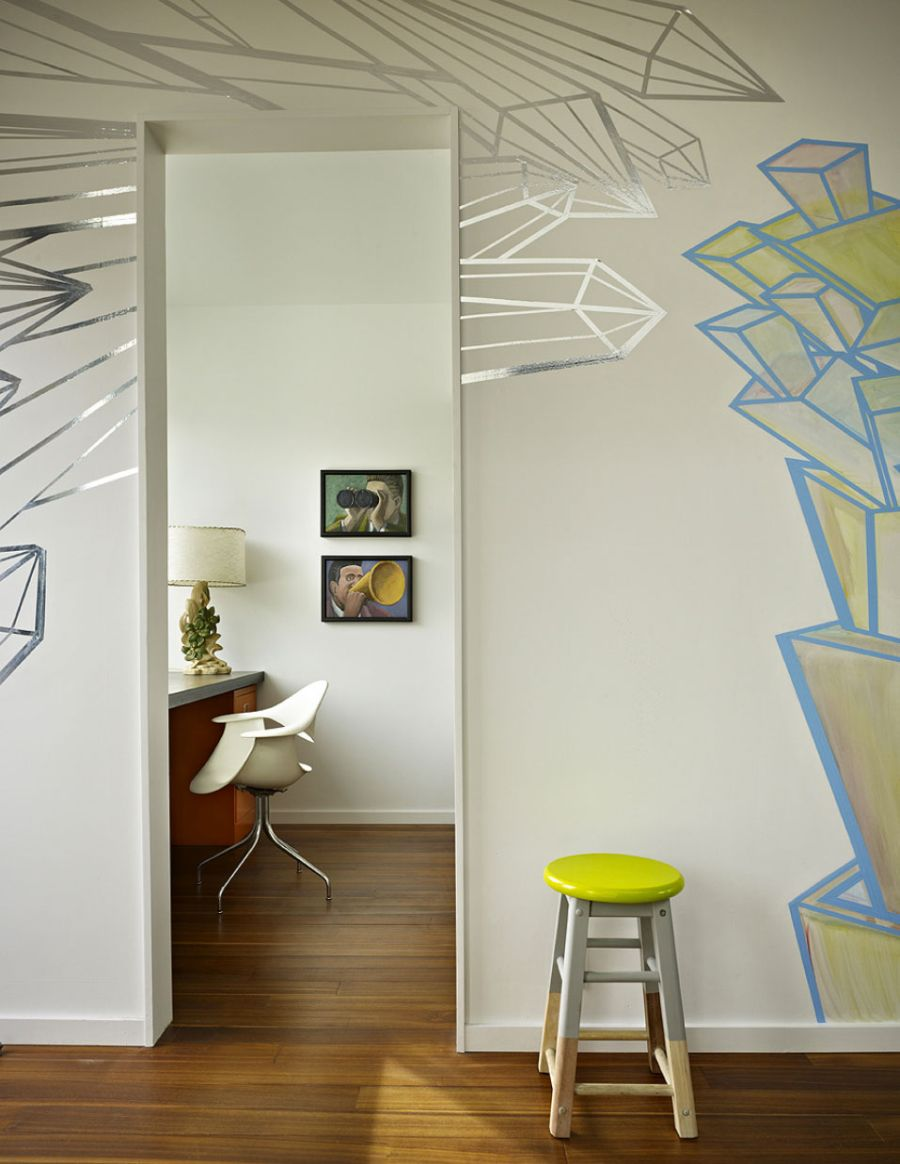 Art work on the walls of the Beet Residence