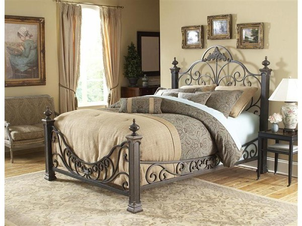 View In Gallery Back To Bed Baroque Wrought Iron Bed