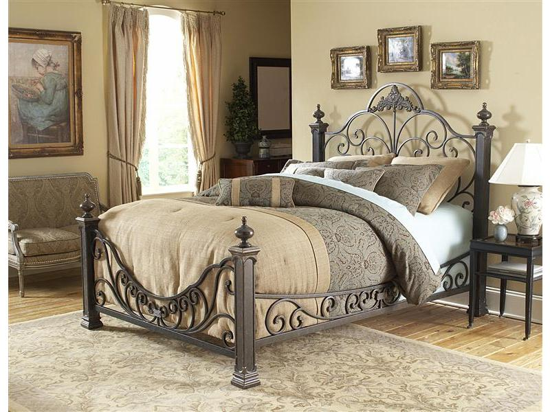 Back to Bed baroque wrought iron bed