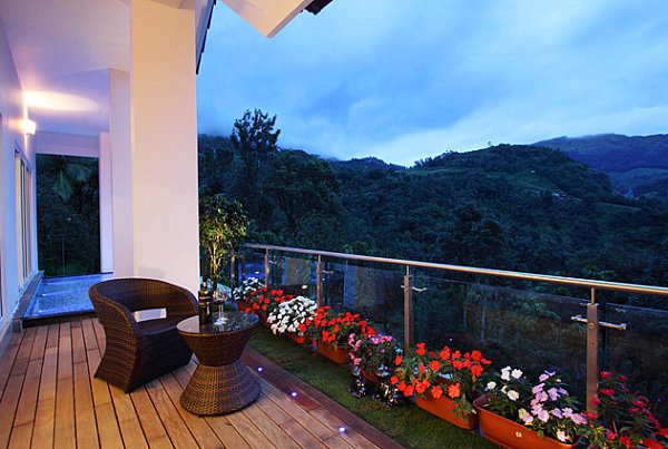 Balcony garden with a stunning view