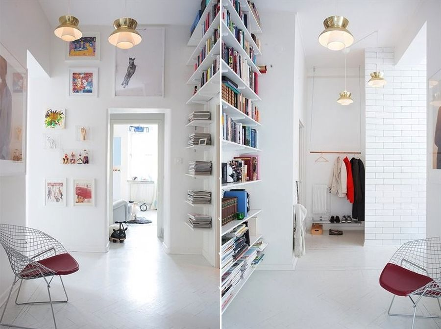 Beautiful Scandinavian themed study
