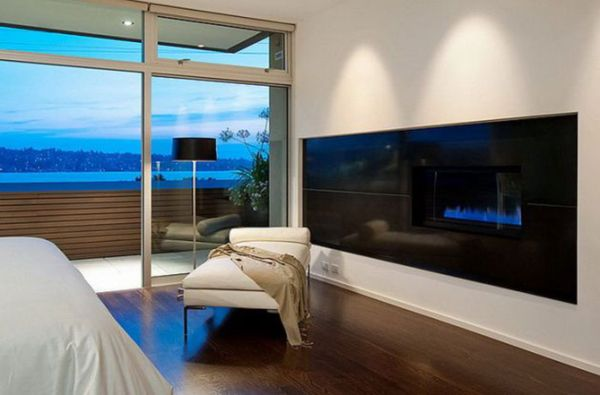 View In Gallery Bedroom Fireplace Dazzles With Its Blue Allure!