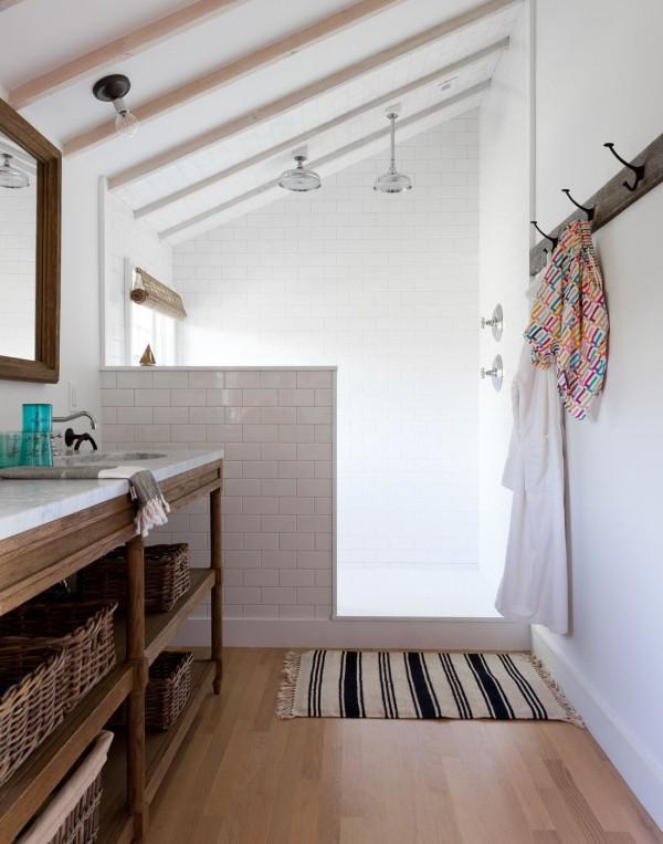 Below-sink storage with baskets