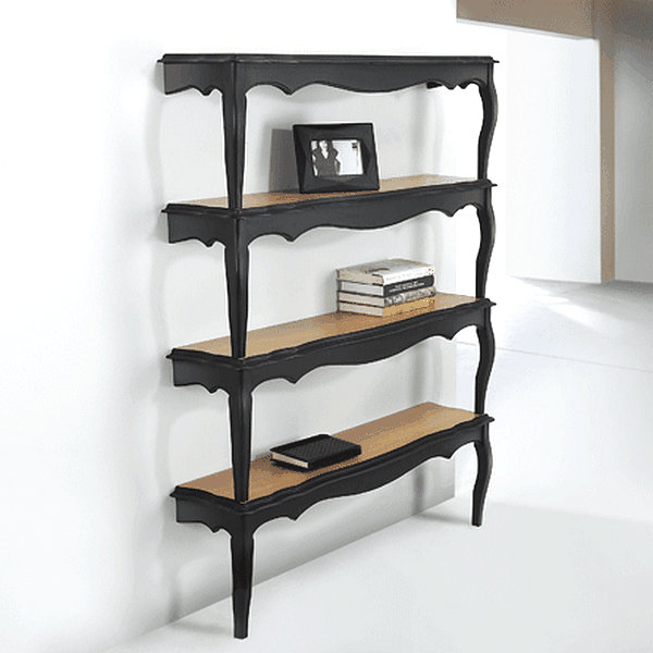 Bookshelf of vintage tables Organize Your Space with DIY Bookshelves