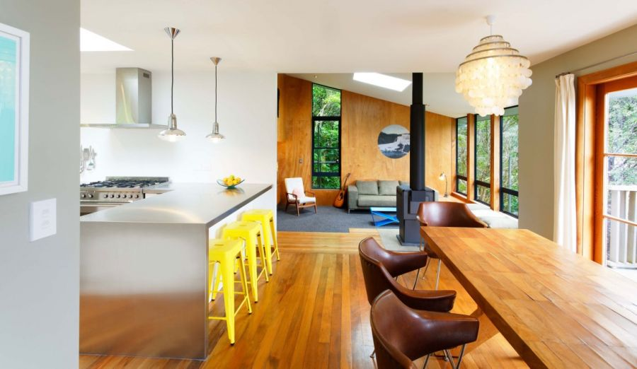 Bright seating options in the kitchen