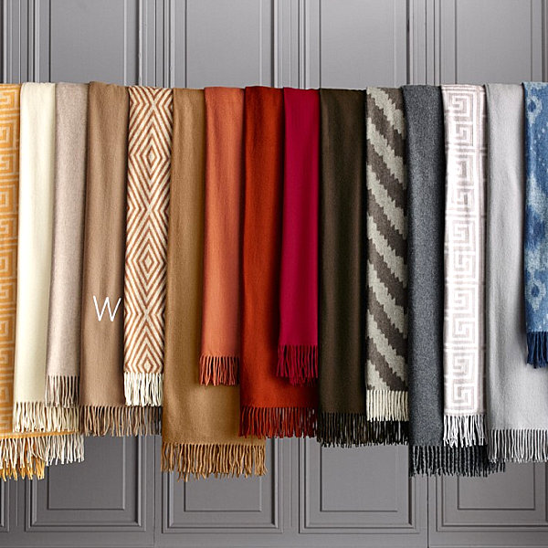 Cashmere throw from Williams-Sonoma