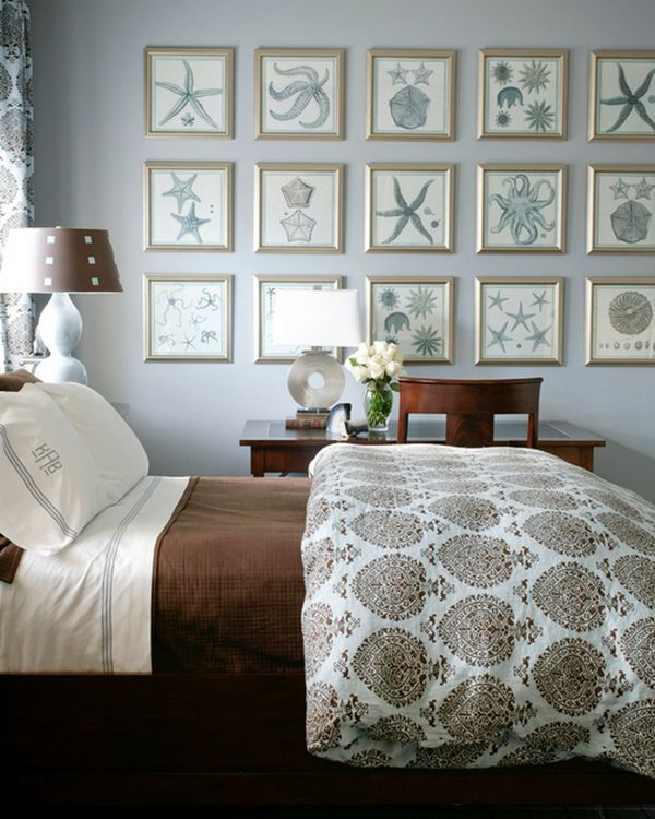 Nautical decor ideas from ship wheels to starfish for Seashell bedroom decor