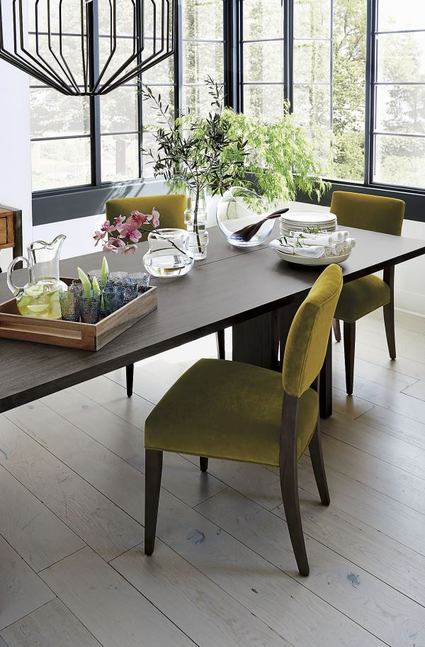 Chartreuse side chair
