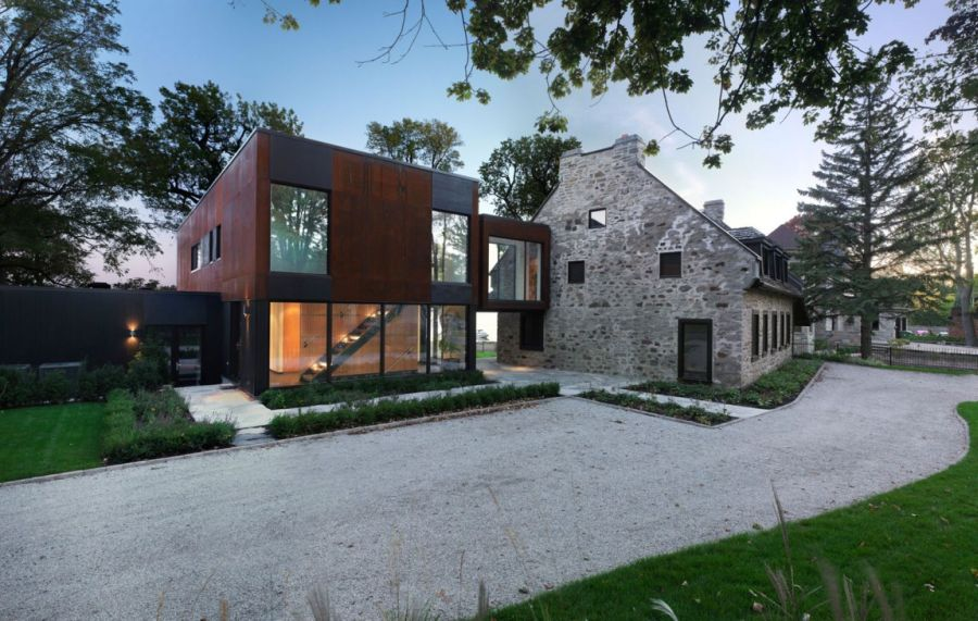 Chemin Bord du Lac by Henri Cleinge Historic Quebec Home Gets A Cool Contemporary Extension
