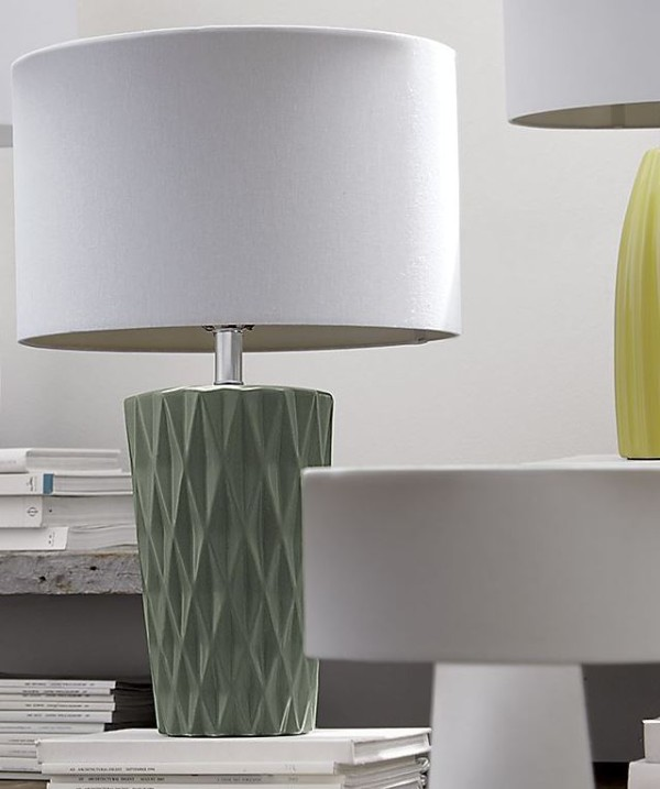 Chic table lamp with geometric detailing