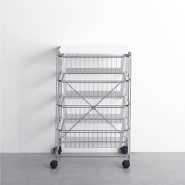 Chrome cart with four drawers