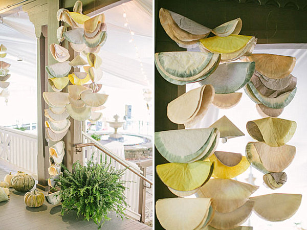 Coffee filter hanging sculptures Fabulous Fall Party Ideas