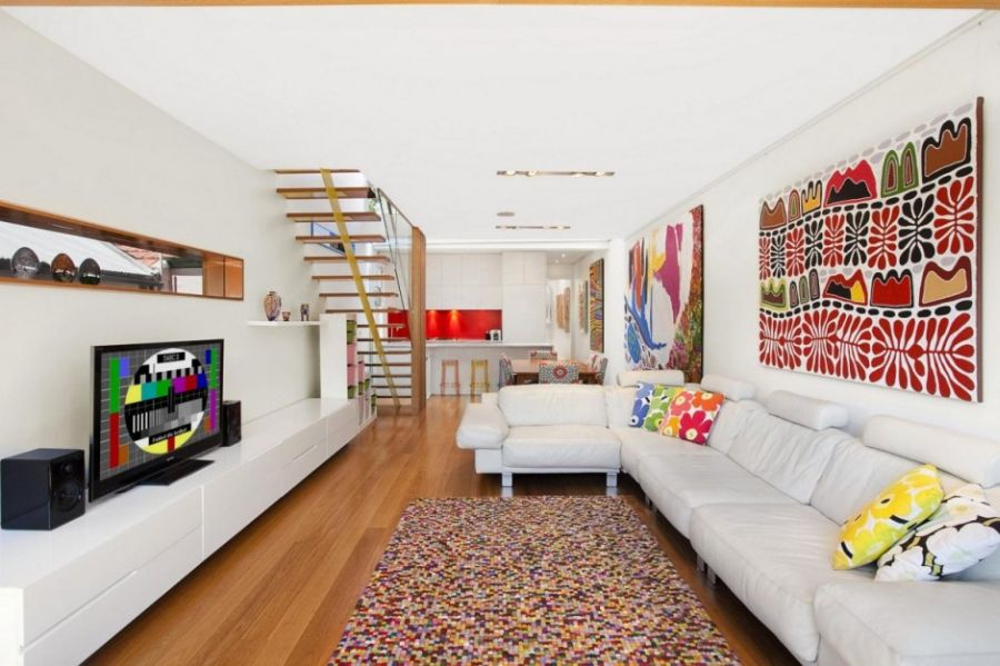 Colorful and spacious living room
