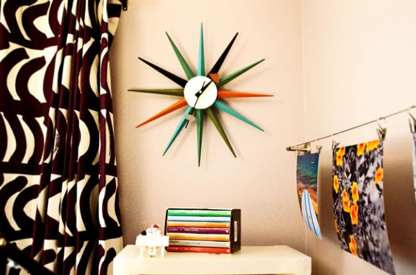 Colorful look of the Nelson Clock makes it a great addition in the kids' bedroom