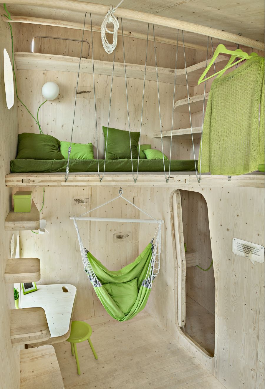 Comfortable sleeping quarters and a hammock