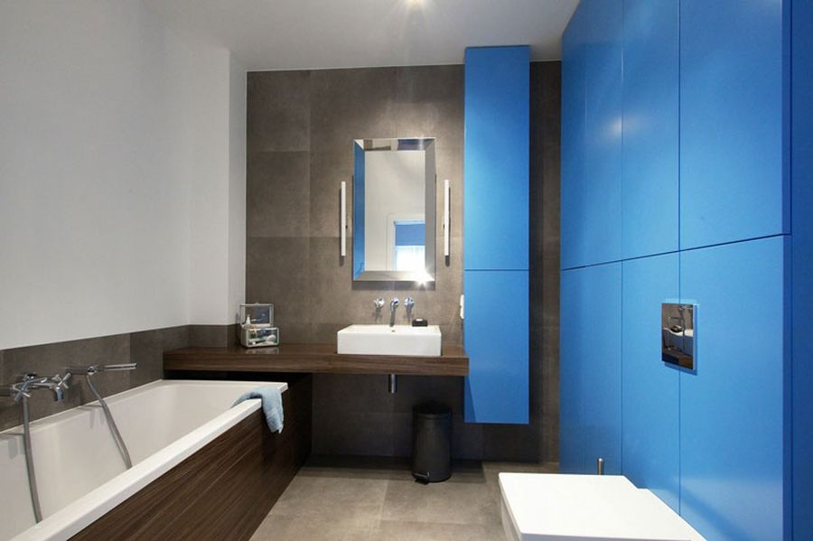 Contemporary bathroom in the Polish home