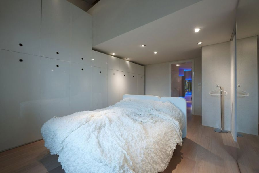 Contemporary bedroom in Italian home