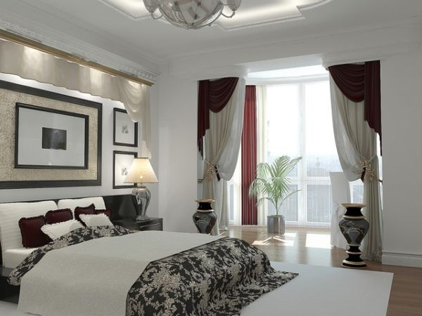 Contemporary bedroom with fabric that brings in the Toile touch