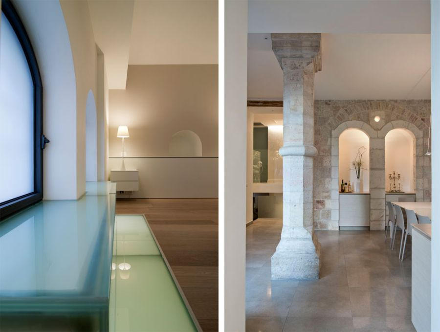 Contemporary design and traditional stone walls