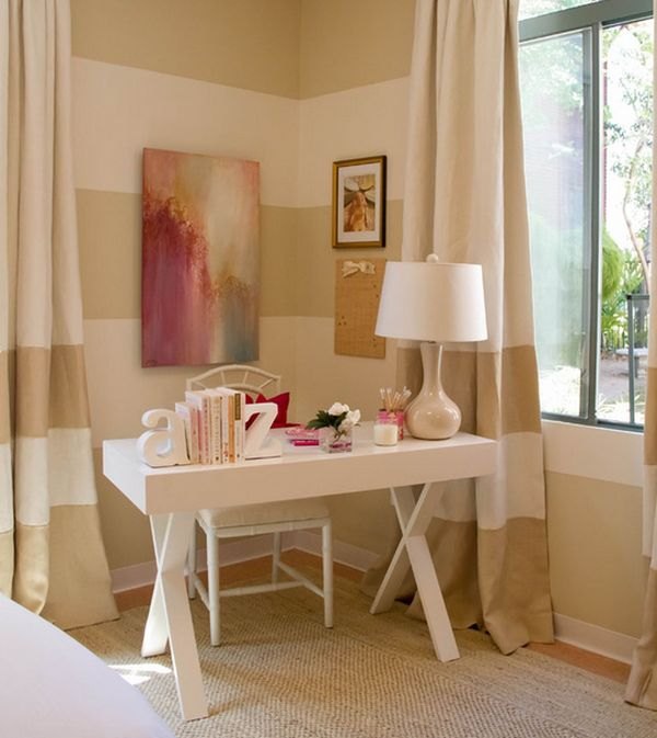 Cool Josephine Desk adds chic glamor to the girls' bedroom