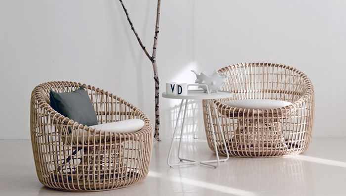 Cool rattan decor for those who love eco-friendly furnishings