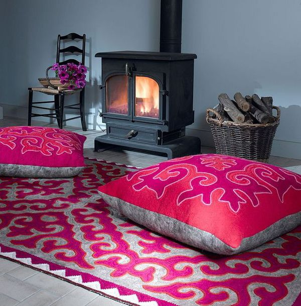 Ideas For Floor Pillows: Floor Pillows And Cushions  Inspirations That Exude Class And Comfort,