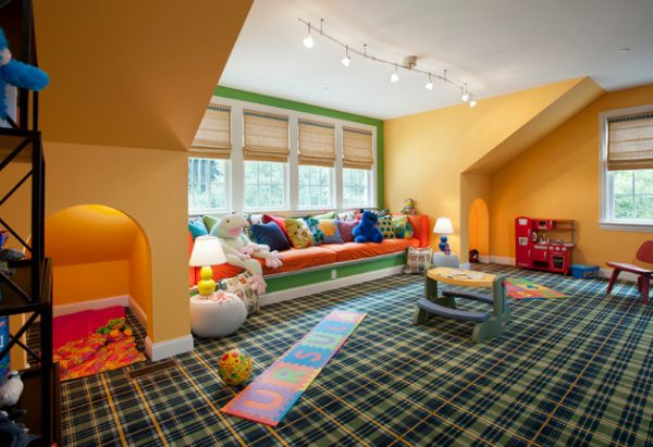 view in gallery create ample window seating space with plush decor - Playroom Design Ideas