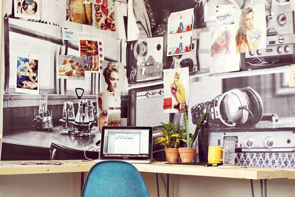 diy office desks for the modern home. Black Bedroom Furniture Sets. Home Design Ideas