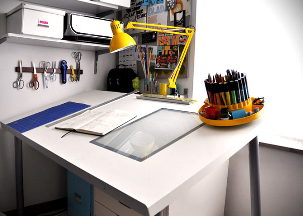 Diy office desks for the modern home - Drafting tables ikea ...
