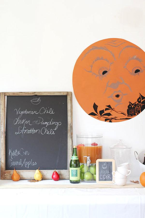 Delicious fall party menu