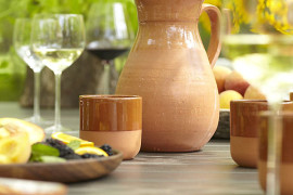 Earthenware sangria glasses