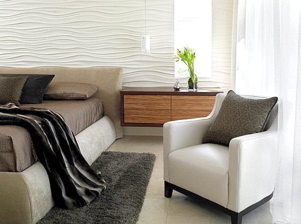 Elegant bedding in a modern bedroom