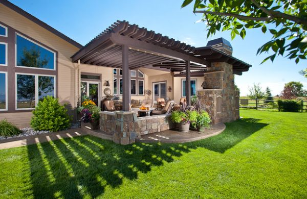 Elegant outdoor living space