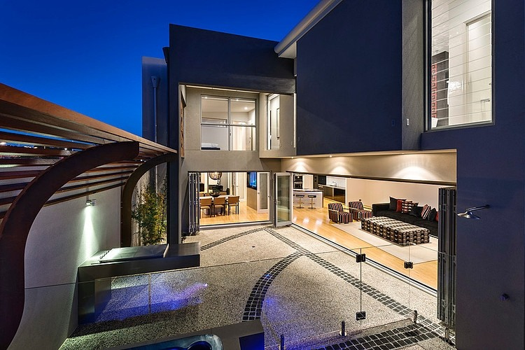 Entranceway of Port Coogee Residence in Perth Dazzling Mizu in Perth Combines Smart Technology With Stunning Design