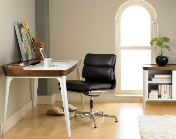 View In Gallery Ergonomic Design Of The Airia Desk Home Office Desks Iconic Designs For The Modern Workstation