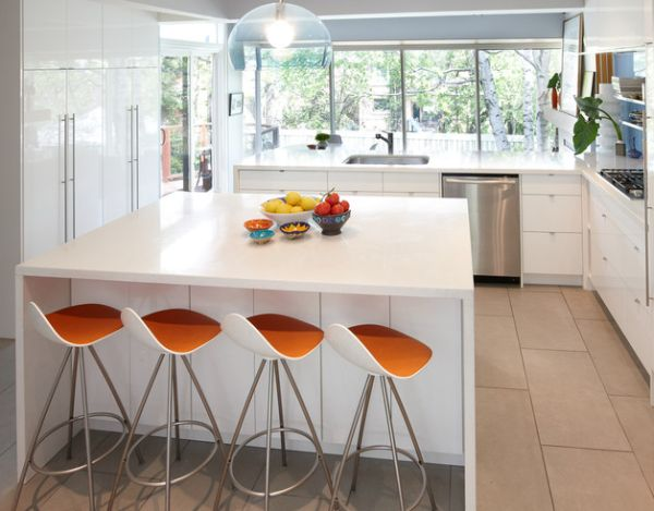 FLY Suspension Lamp by Kartell above the Kitchen Island