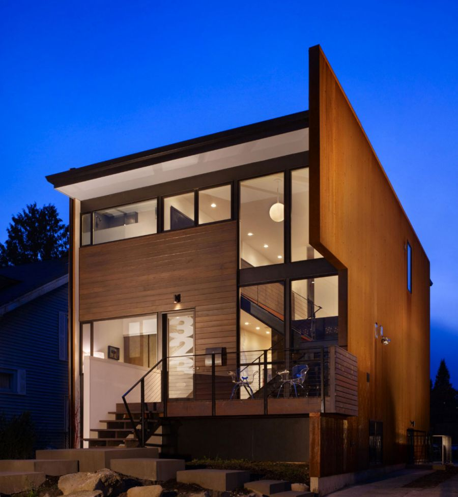 Facade of Beet Residence in Seattle