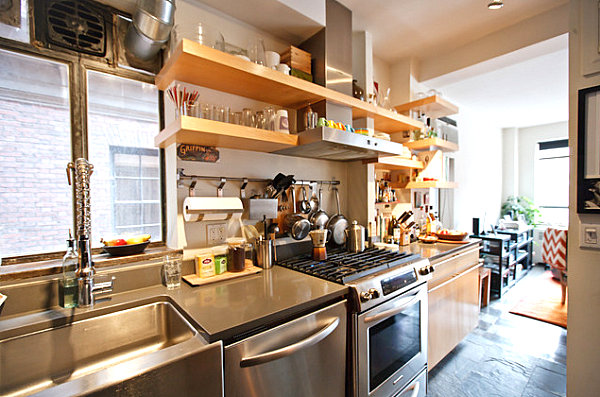 View In Gallery Functional Kitchen With Ample Shelving When Kitchen Accessories Become Decor Creating A Functional Culinary Space