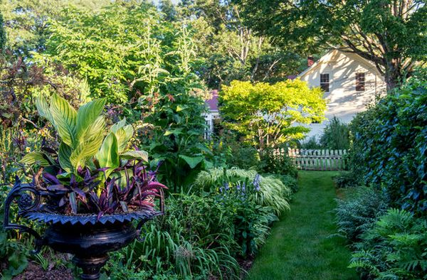 Garden walkway surrounded by a variety of plants Connecticut Garden Displays Tranquil Beauty Nurtured With Decades Of Care