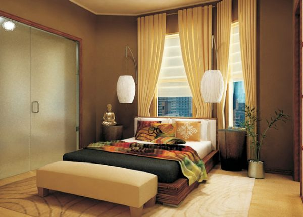 Bedside lighting ideas pendant lights and sconces in the for Bedroom inspiration oriental