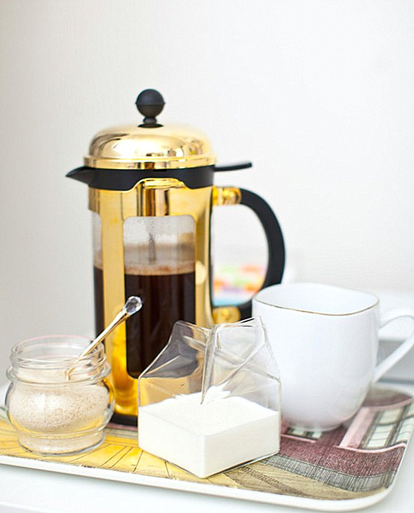 Gold coffee press
