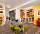 Gorgeous playroom showcases stylish combination of colors
