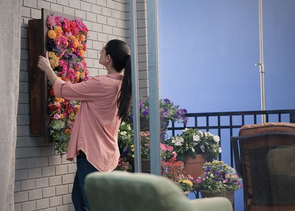 Hanging flower box makes a brilliant vertical garden
